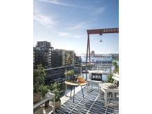 Tänkt utsikt från Brf Alberrina i Göteborg