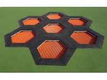 Trampolinkombination av hexagoner