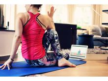 Mecenat ger gratis yoga, träning och avslappning online till Sveriges studenter