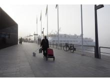 Strömkajen en dimmig dag