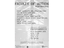 Faculty of Action, affisch web