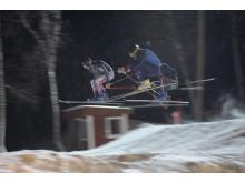 Svenska och franska skicrosslandslaget tränar tillsammans i Hemavan
