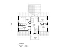 Planlösning Villa Solgläntan, övre plan