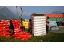 Nepal temporary latrines