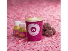 Waynes Coffee rosa bandet produkter
