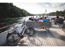 Einfach kombiniert - mit Bahn, Bus und Schiff und Velo in der Schweiz unterwegs.