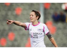 Fotbollsstjärnan Therese Sjögran i samarbete med KVD