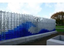 Kristallvägg på kyrkogård i Limhamn
