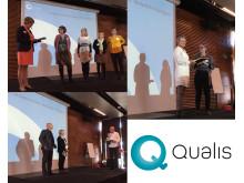 Utdelning av utmärkelsen läsårets Qualis förskolor, skola och fritidsgård som finns i Helsingborg, Kävlinge och Sundsvall