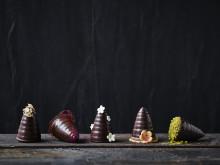 Fem flotte flødeboller med ODENSE Flødebolleskaller