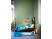 GRACIÖS tæppe, pink/blå 259.-