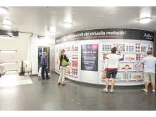 Virtuell matbutik i tunnelbanan
