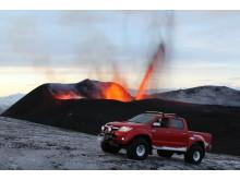 Extremt stryktålig Toyota Hilux klarade vulkanen som tömde luftrummet