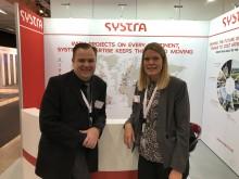 Harald Marx, biträdande försäljningsledare, och Madelene Altberg, produktionsledare, är på Nordic Rail för att presentera Systra Sverige, tidigare Dalco Elteknik.