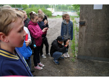 Många små fotografer på Upplev Häst