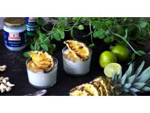 Vegetariskt grillrecept - ananas