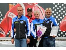 Gjerstad IL (fra venstre: Stein Winterkjær, Ole Einar Bjørndalen, Ellen Winterkjær og Robert Aasbø)