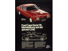 Ford Capri Serie '76 Werbeplakat