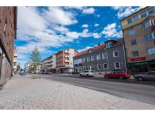 Huset i mitten rivs för brf Norrskenet i Luleå