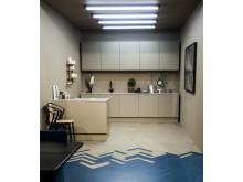 Bjelin WoodFiber Yale Blue. Trendutställning Stockholm Furniture Fair