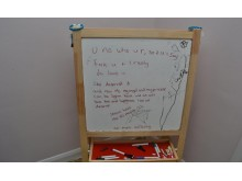 Whiteboard found in Cavanagh's house