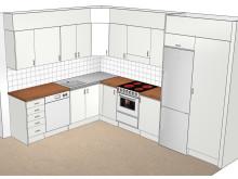 Nytt kök nya lägenheterna Violvägen 2