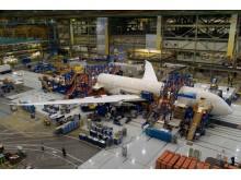 Norwegians første 787 Dreamliner fra Boeing-fabrikken