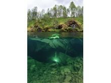 Вход в подводную пещеру Плюра