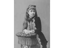 Irma von Hallwyl ca 10-12 år. Från utställningen Barn av sin tid - från Hallwylska palatset till Hammarkullens miljonprogram