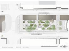 Illustrationsplan för upprustningen av Brunnsparken 2019 2020 White arkitekter