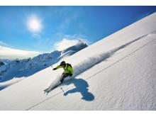 Skifahren am Kolåsbreen-Gletscher
