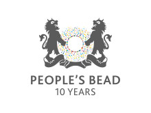 Peoples bead  10 years logo