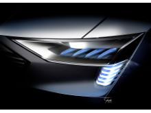 Audi e-tron quattro concept – Headlight with e-tron light signature with new OLED technology