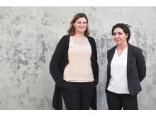 Pressbild på Maria Gustafsson och Rache Kilic, Locum