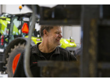 Servicemekaniker Per Olivius Gistorp ser stora fördelar med den nya verkstaden.