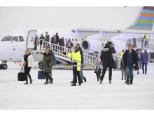 Första passagerarna ankommer SCR 22 dec 2019