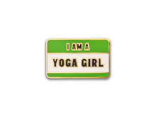 Yoga Girl license plate pin