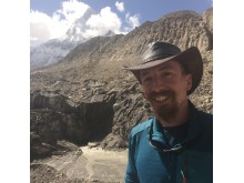 Spike Reid at Gomukh, the glacial source of the river Ganges