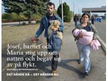 Svenska kyrkans kampanj i kollektivtrafiken december 2015