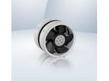 Hopmonterade och motroterande fläktar ger hög kyleffekt för känslig elektronik