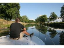 Pressbild - Göta kanal med fritidsbåt