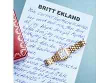 Britt Ekland säljer sin Cartier-klocka på Kaplans!