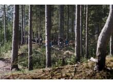 XTERRA Duathlon Rebild 2018 - MTB, tilskuere i skov