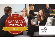 Accountor utvald till Karriärföretag 2017