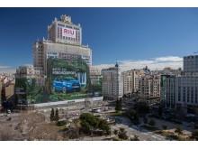 Ford Ecosport på verdens største billboard i Spanien