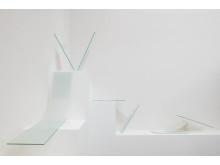 Liva Isakson Lundin, Peel, Shear, Tensile, grupp 2, 2017.  Glas, silikon.