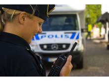 Polis med Rakelmobil