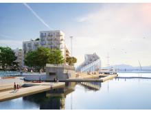 Skissbild, Inre hamnen etapp 1