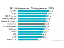SKI Tjänstepension företagskunder 2019