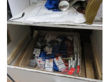 Op Scary - Cigarettes hidden in shop seized by HMRC 1
